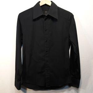 Black ButtonDown Dress Shirt,stretchyCottonSpandex